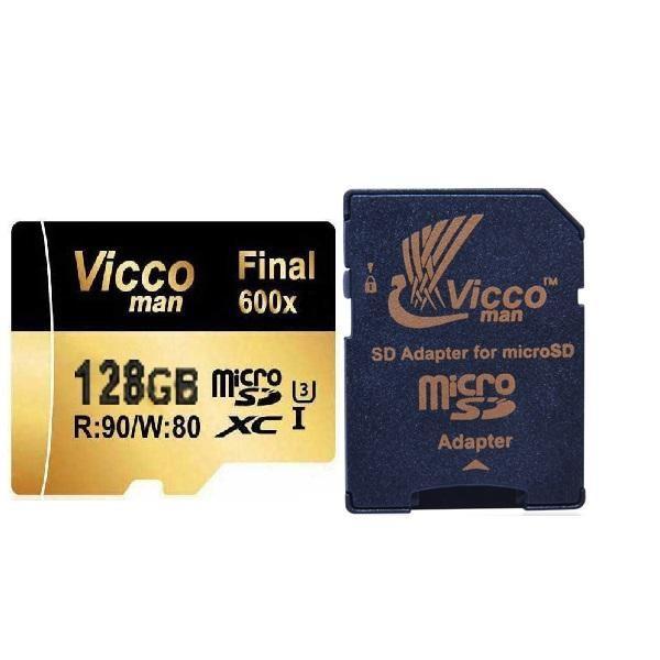کارت حافظه microSDHC ویکو من مدل Final 600x کلاس 10 استاندارد UHS-I U3 سرعت 90MBps ظرفیت 128 گیگابا