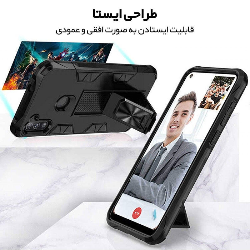 کاور لوکسار مدل Defence90s مناسب برای گوشی موبایل سامسونگ Galaxy A11