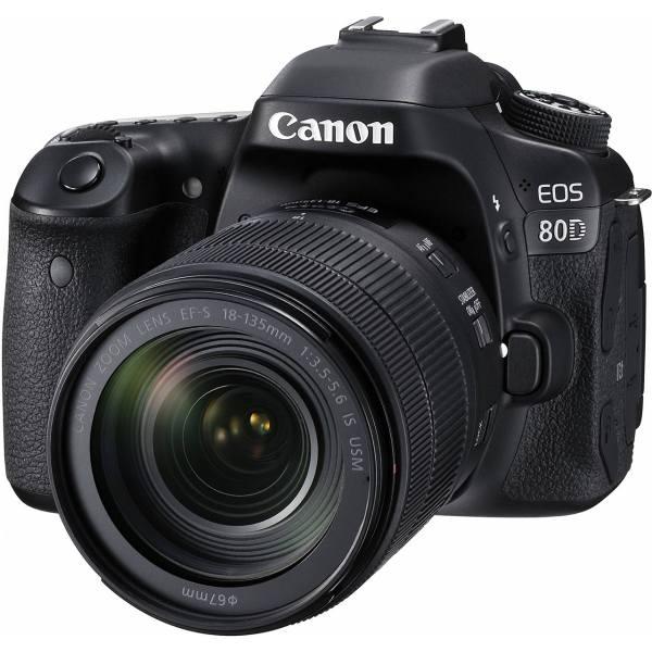 دوربین دیجیتال کانن مدل Eos 80D EF S به همراه لنز 18-135 میلی متر f-3.5-5.6 IS USM